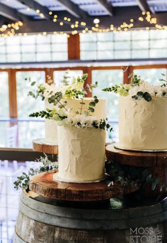 native flower cake topper
